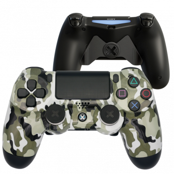 Mando Ps4 Camuflaje Blanco