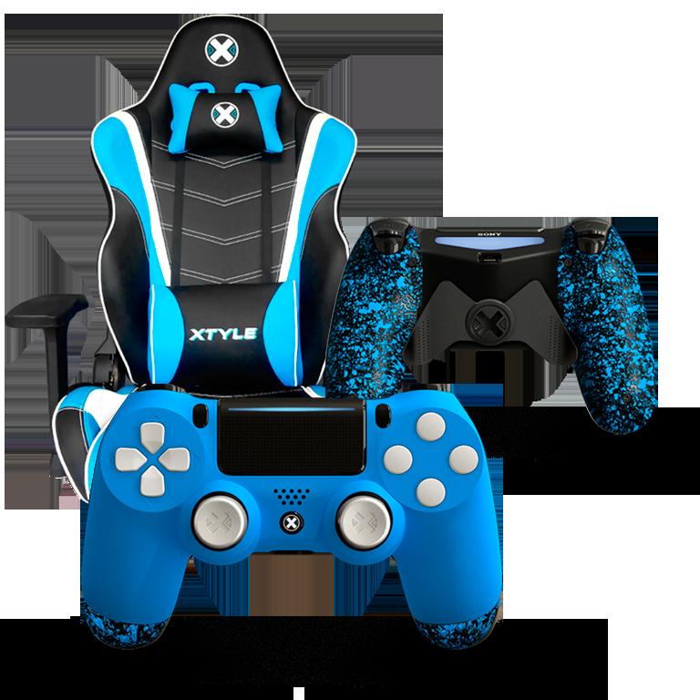 Xtyle Azul + Mando Ps4 X Controllers