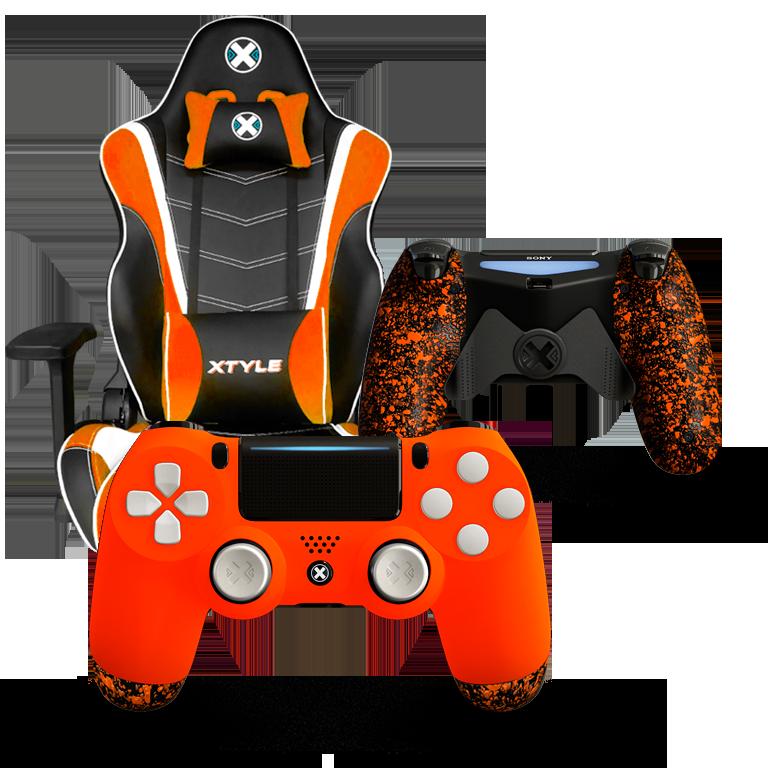 Xtyle Naranja + Mando Ps4 X Controllers