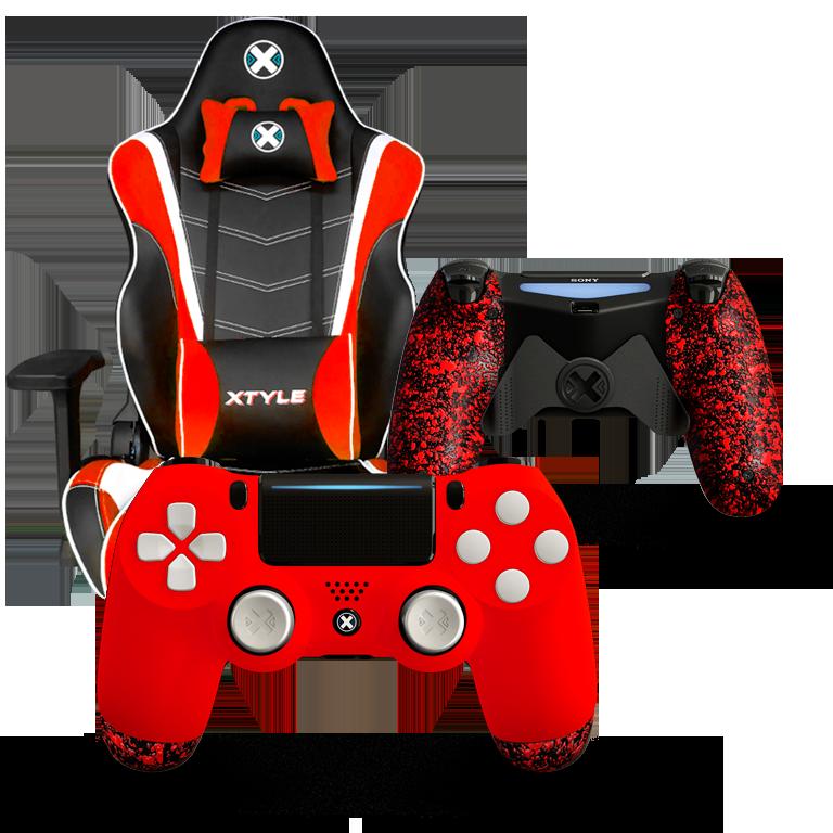 Xtyle Roja + Mando Ps4 X Controllers