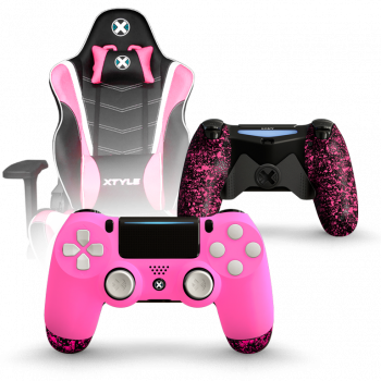 Xtyle Rosa + Mando Ps4 X Controllers