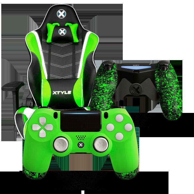 Xtyle Verde + Mando Ps4 X Controllers